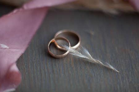 Wedding rings. Wedding symbols, attributes. Holiday, celebration.