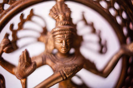 Bronze dancing Shiva. Boke