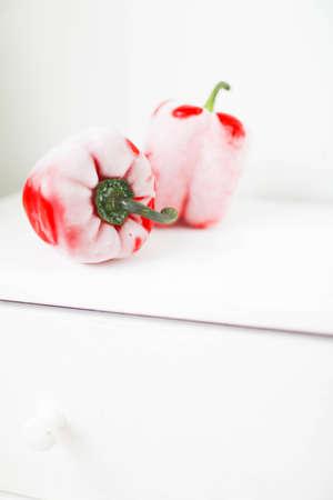 Frozen red sweet pepper