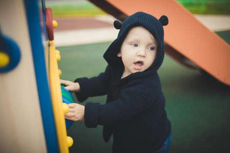 Little Boy In A Playground