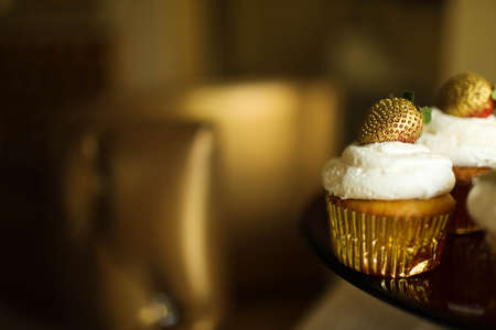 Cupcake stylish and beautiful gold color