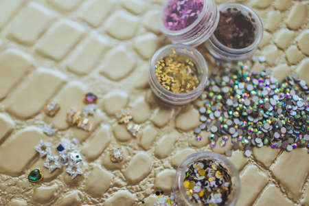 rhinestones for the decoration of nails Stockfoto