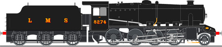 steam locomotive: steam locomotive Illustration
