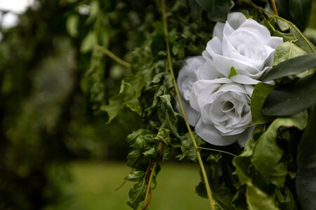 Trellis Flowers Wedding Alter White