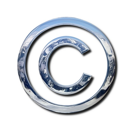 Chrome copyright symbol Stock Photo - 9995207