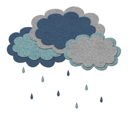 bad weather: Rain and clouds illustration.