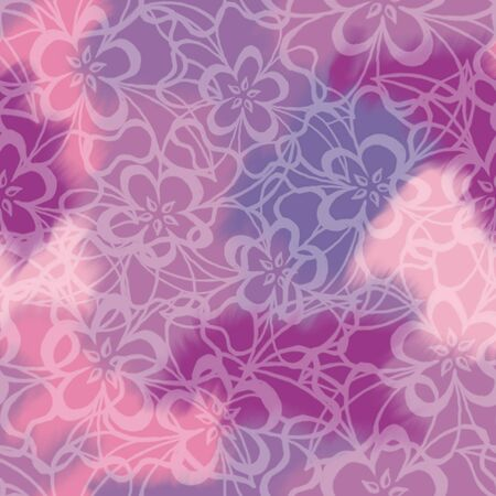 violet purple: Floral seamless background