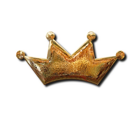 Golden crown sign. Isolated object with shadow Stock Photo - 9995174