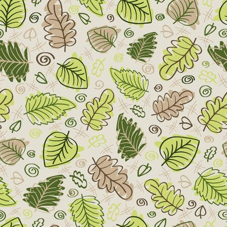 Seamless leaf pattern Stock Vector - 17454385