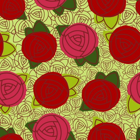 Abstract roses seamless pattern Stock Vector - 17454383