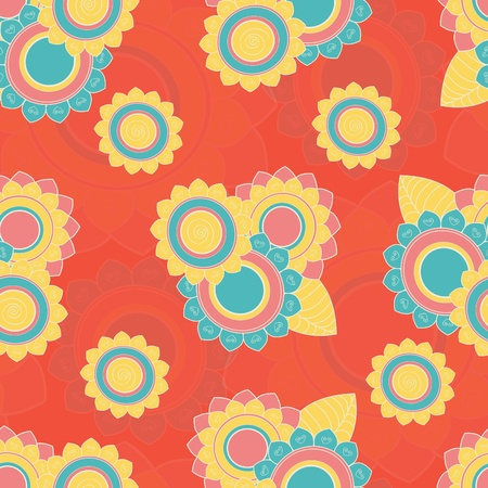 Hand drawn seamless floral pattern Stock Vector - 17502314