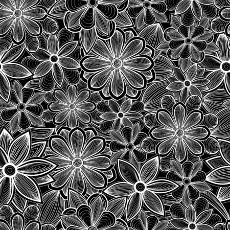 Seamless floral pattern. Hand drawn background Stock Photo - 17502312