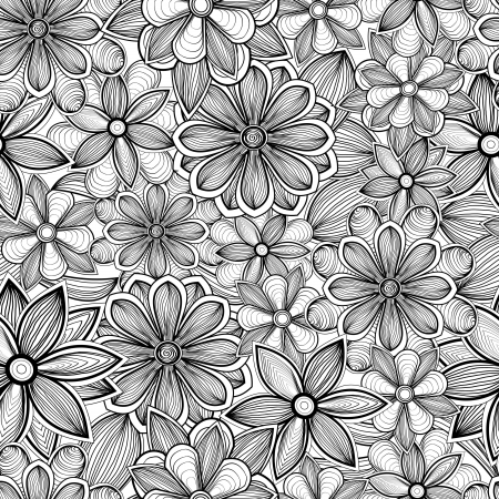 Hand drawn seamless floral pattern Stock Vector - 17502315