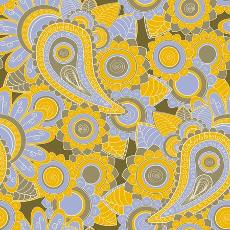 Seamless paisley pattern photo