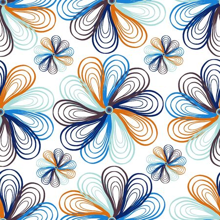 textiles: Seamless floral pattern  Hand drawn background