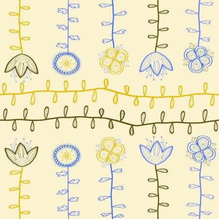 Hand drawn seamless floral pattern photo
