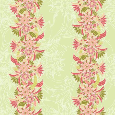 Seamless Floral background. illustration