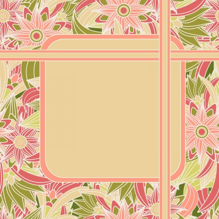 Seamless floral background with text box.  illustration  Vector