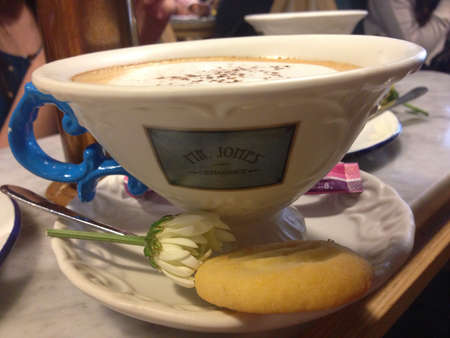 jones: Cappuccino at Mr. Jones Orphanage Siam Centre Bangkok