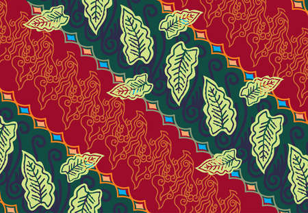 Batik painting of Java Indonesia, with a very nice line pattern, with a very nice and exclusive distinctive color
