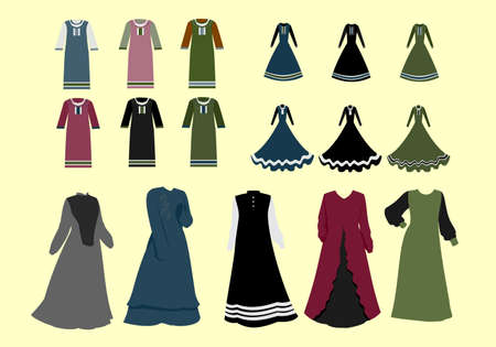 collection set of traditional islamic dress