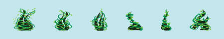 set of beanstalk cartoon icon design template with various models. vector illustration isolated on blue background Vector Illustration
