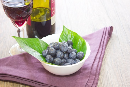 biologic: blueberries Stock Photo