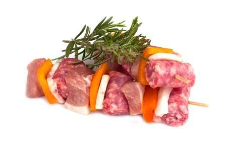 Skewers of meat photo