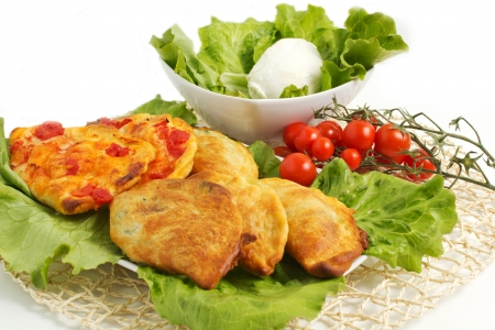 italian panzerotti with ingredients