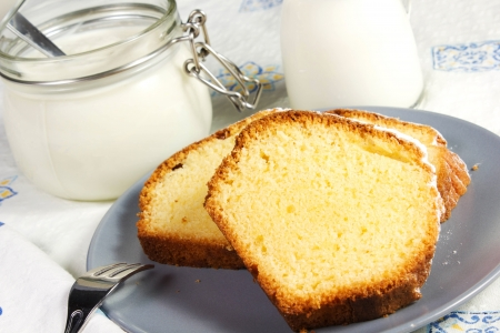 plumcake on the table Stock Photo