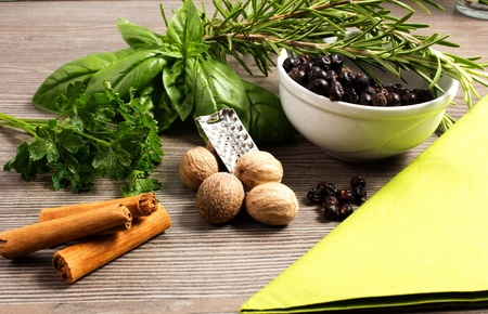 food additives: Herbs and spices selection  Aromatic ingredients and natural food additives