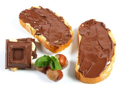 hazelnut: Chocolate spread and its sweet ingredients, a still life