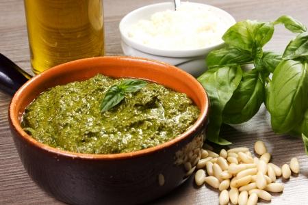 Pesto alla Genovese , Basil Sauce Stock Photo - 15253346