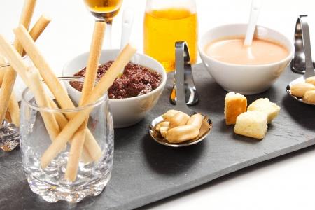 aperitif on a white background Stock Photo
