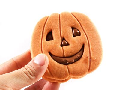 halloween biscuit on a white background