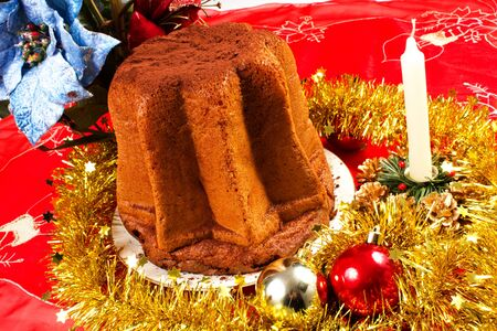 cake on the table decorated for christmas Stock Photo - 16434195