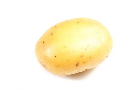 New potato isolated on white background close up Stock Photo