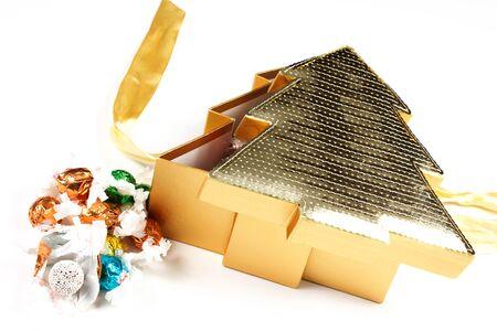 box of chocolates shaped like a tree