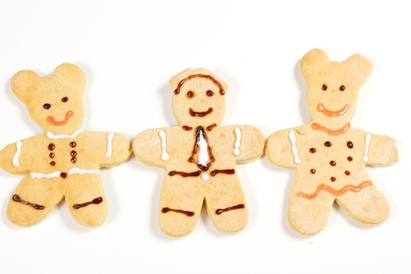gingerbread men on a white background