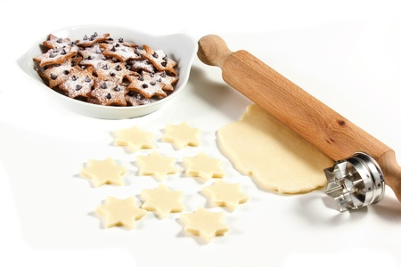 Christmas star cookies  on a white background Stock Photo - 17720422