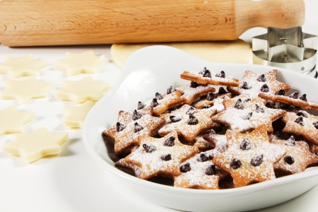 Christmas star cookies  on a white background Stock Photo - 17720424