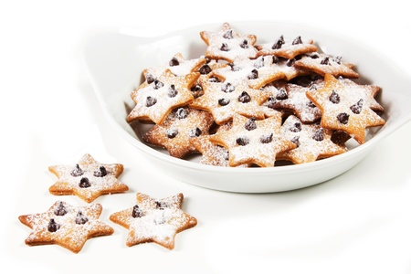 christmas star cookies  on a white background Stock Photo - 17720446