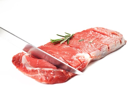 bovine meat on a white background photo