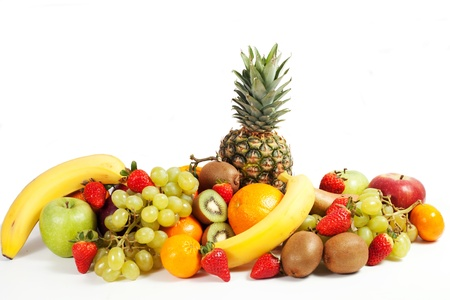 composition of fruits on a white background photo