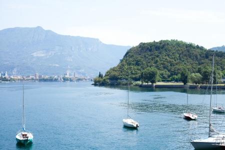 landscape of lake Como in Italy