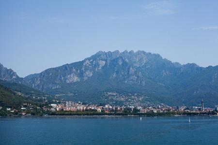 landscape of lake Como in Italy photo