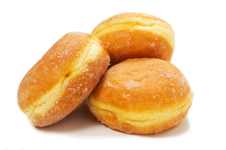 donuts: delicious donuts on teh white background Stock Photo
