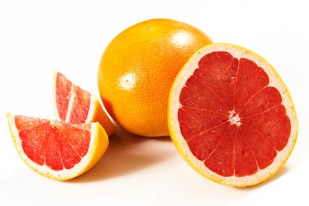 grapefruits on a white