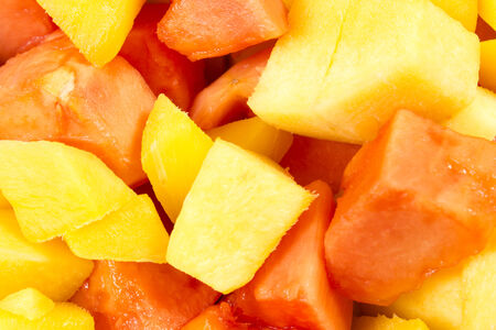 mango and papaya slices photo