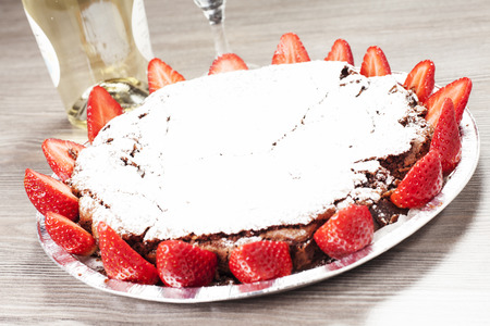 Chocolate cake caprese photo